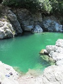 A dip in the freezing Pelorus River - awesome!