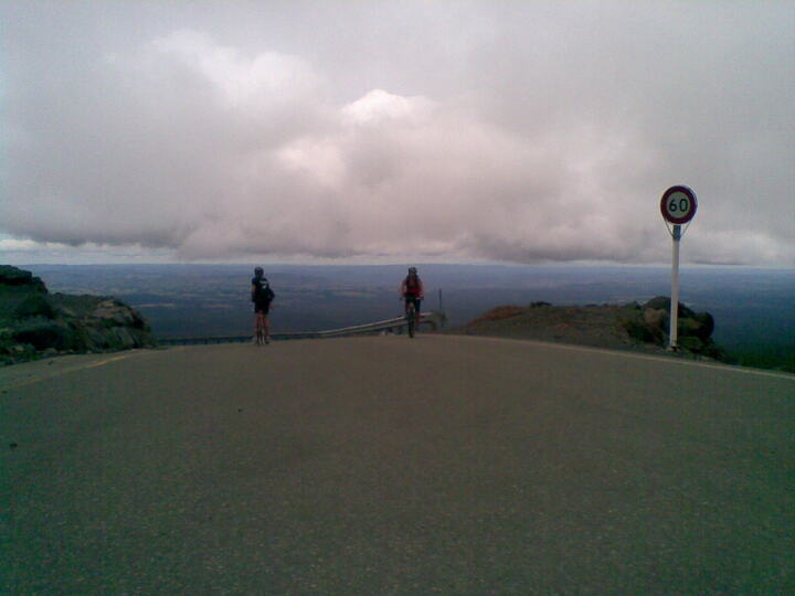 Arriving at the top of the Ohakune Mountain Road