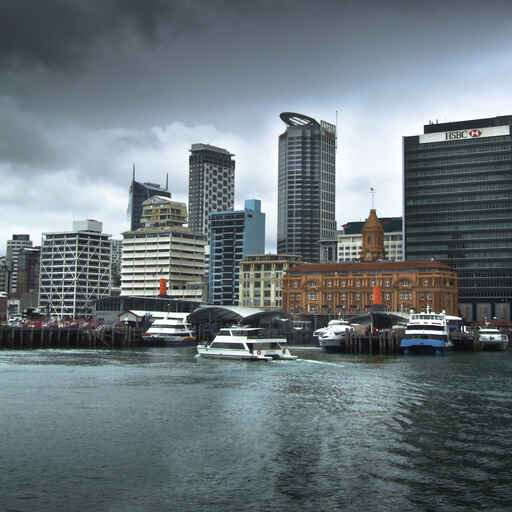 Auckland Waterfront - start of the Coast to Coast Walk