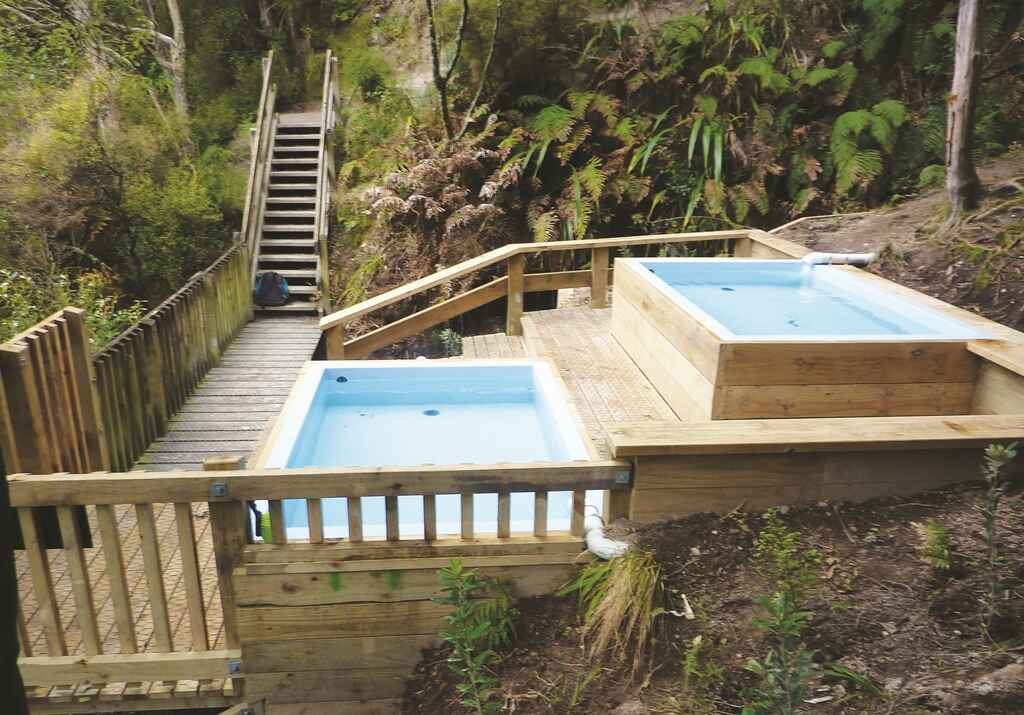 Hot pools at the Mangatutu Hot Springs
