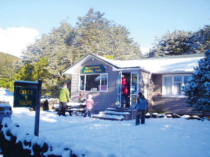 Whakapapa Holiday Park in the winter - primo!