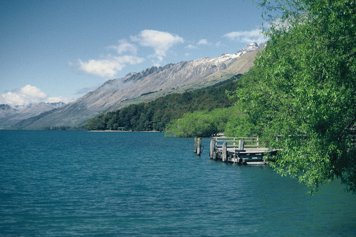 A view of Lake Wakatipu from the Kinloch Camping Ground