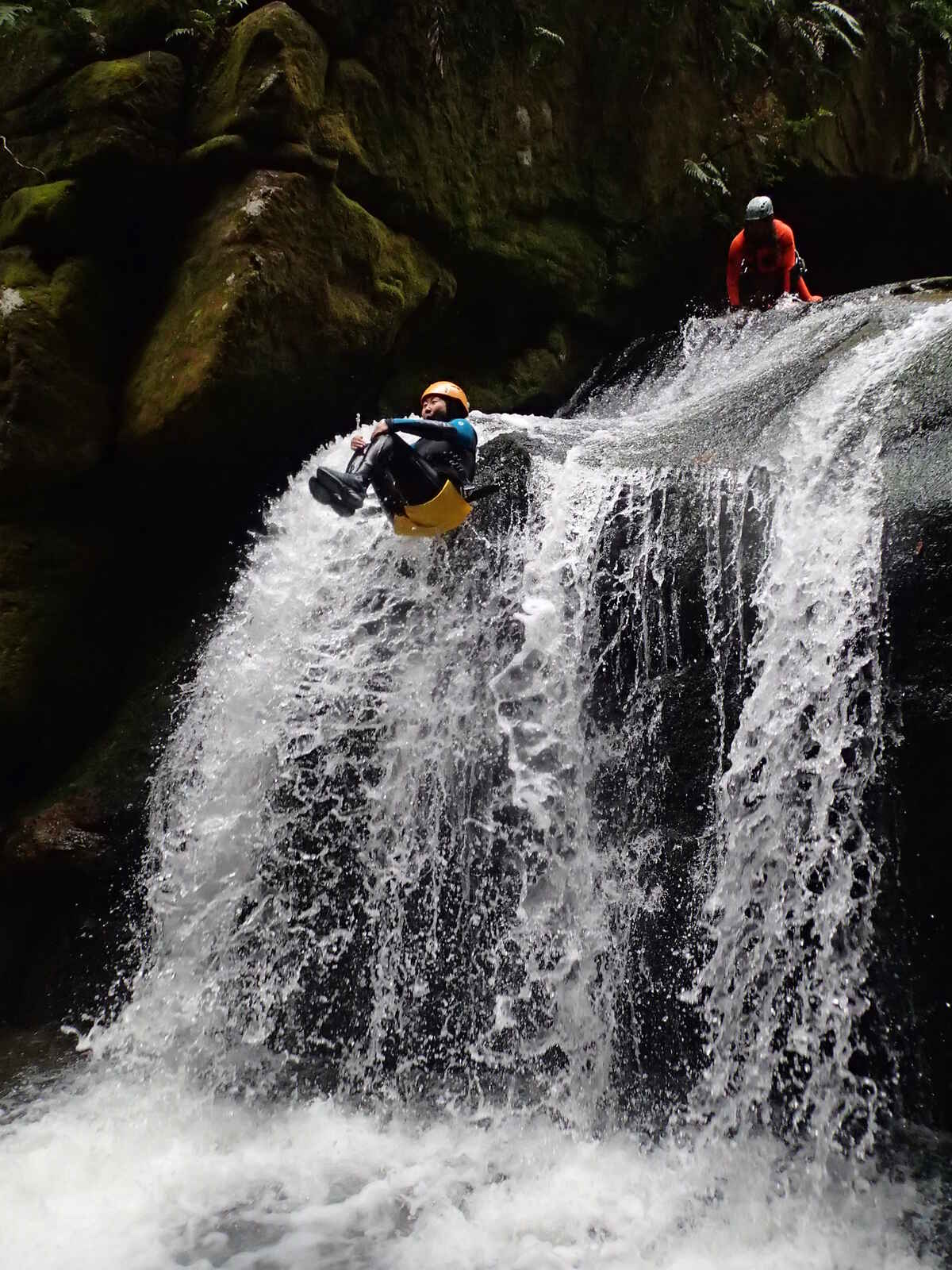 Fun white-water action!  Canyoning New Zealand