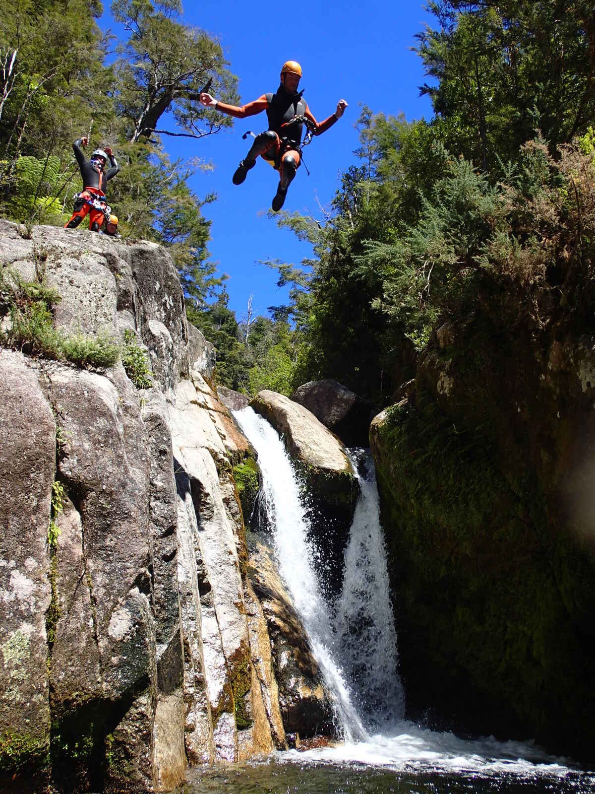 Hair raising jumps! Canyoning New Zealand