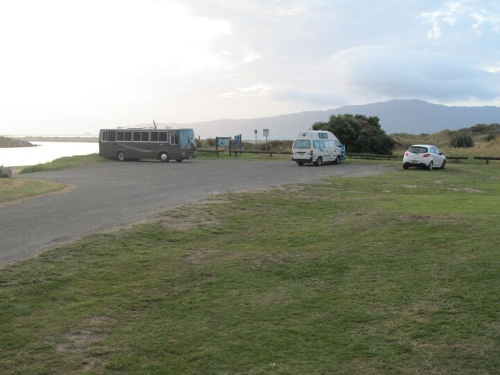 Waikanae River Mouth. Top freedom camping!