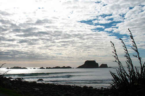 Lone Surfer loving life at Tauranga Bay