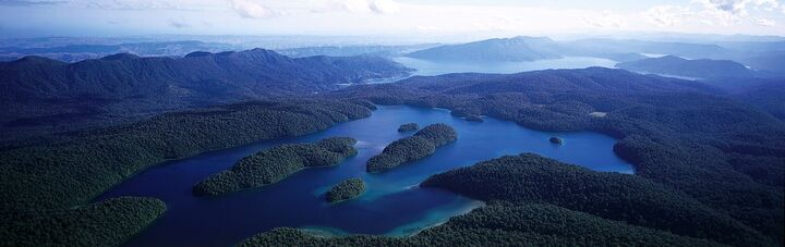 Lake Waikareiti from the air