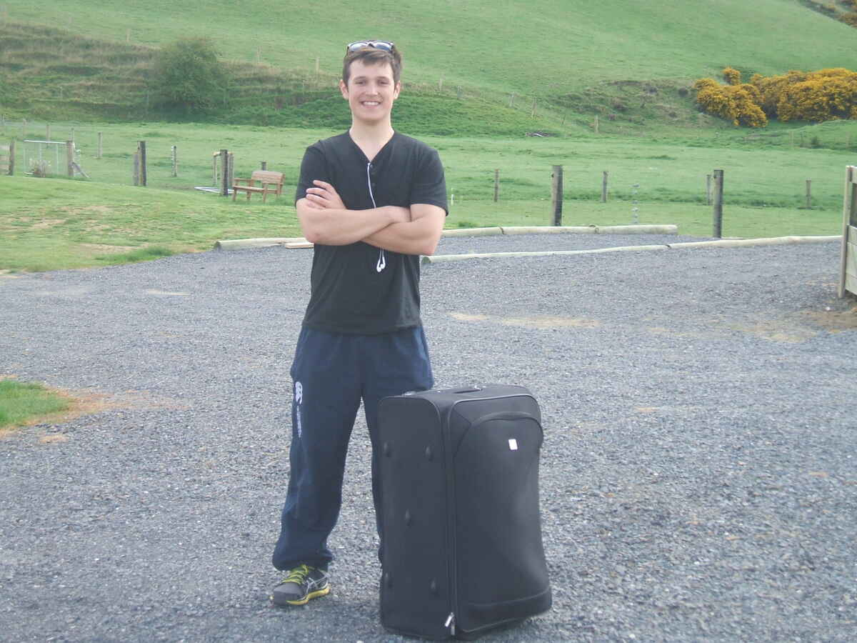 The only backpacker we know with a suitcase