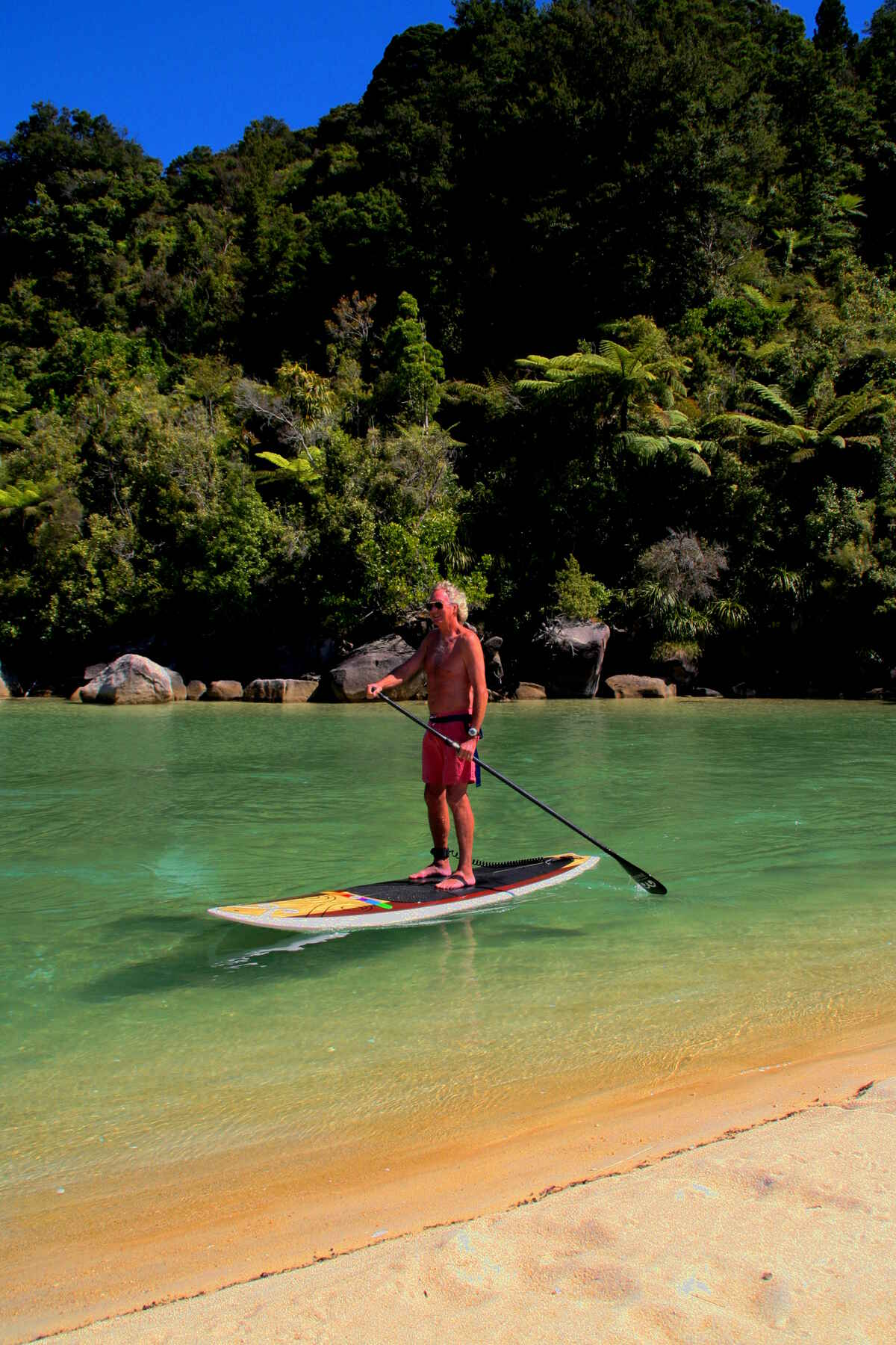 """The Lagoons"", guided SUP tour at Bark Bay"