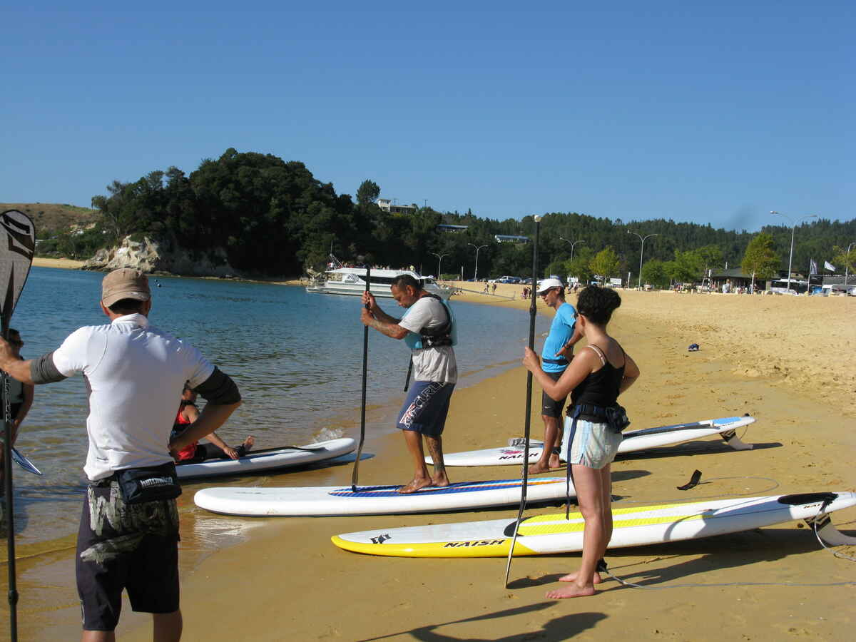 Stand Up Paddle Boarding at Kaiteriteri Beach
