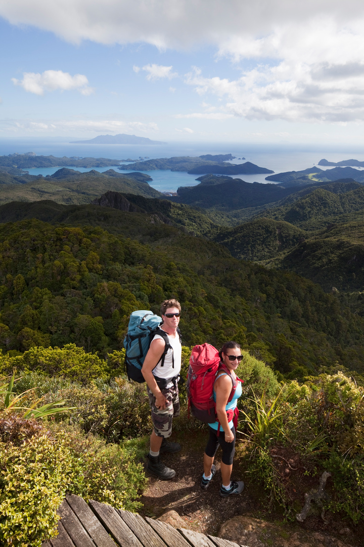 Great Barrier Island hikers - Photo: Julie Kidd