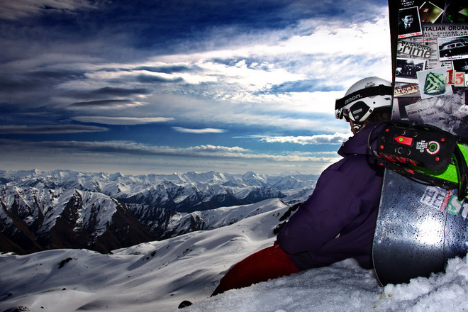 Chilling at Cardrona - NZ Snow Tours