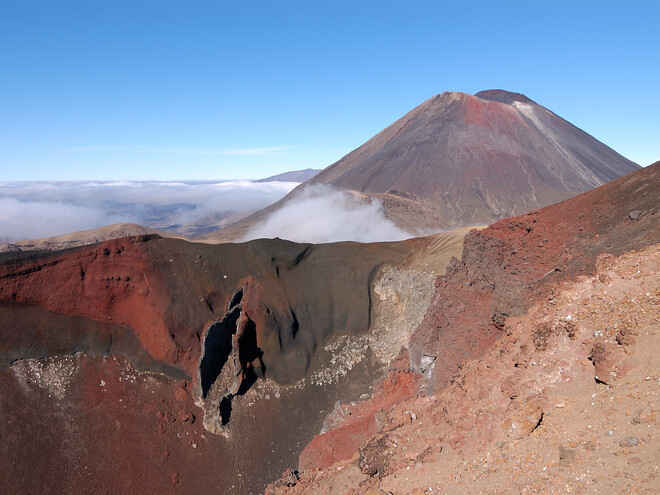 Into the depths of Red Crater - Tongariro Crossing