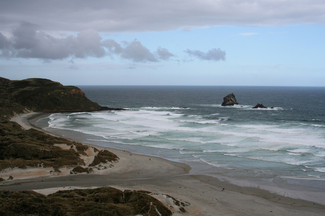 The beach at Sandfly Bay