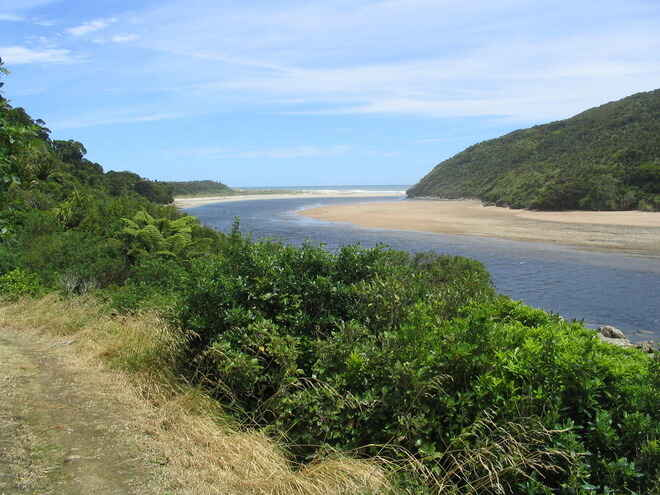 Beach views along the Heaphy Track