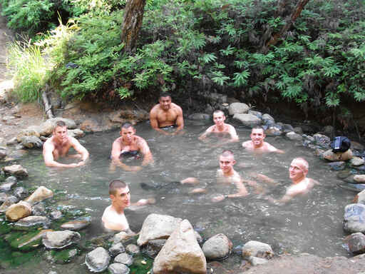 Men in springs.... - Great Barrier Island
