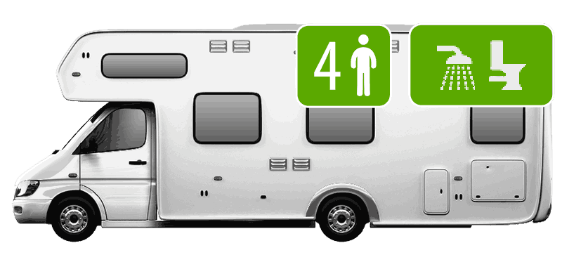 4 Berth Motorhome (Shower/Toilet)