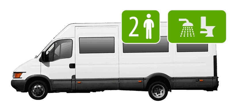 2 Berth Campervan (Shower/Toilet)