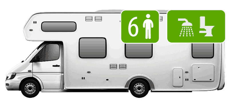 6 Berth Motorhome (Shower/Toilet)